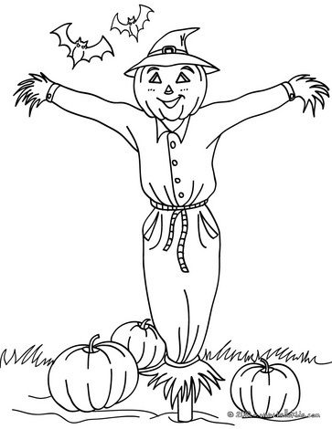 halloween scarecrow coloring pages printable - photo#24