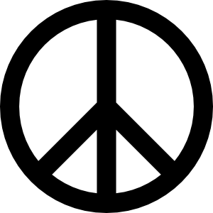 Simple and Attractive Free Printable Peace Sign Coloring Pages - Art Hearty | 300x300
