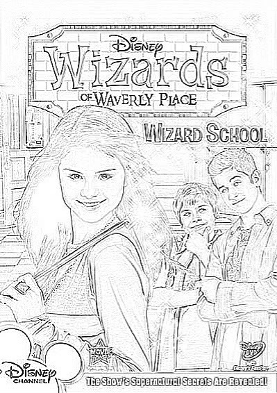 Get Free Wizards Of Waverly Place Coloring Pages Free