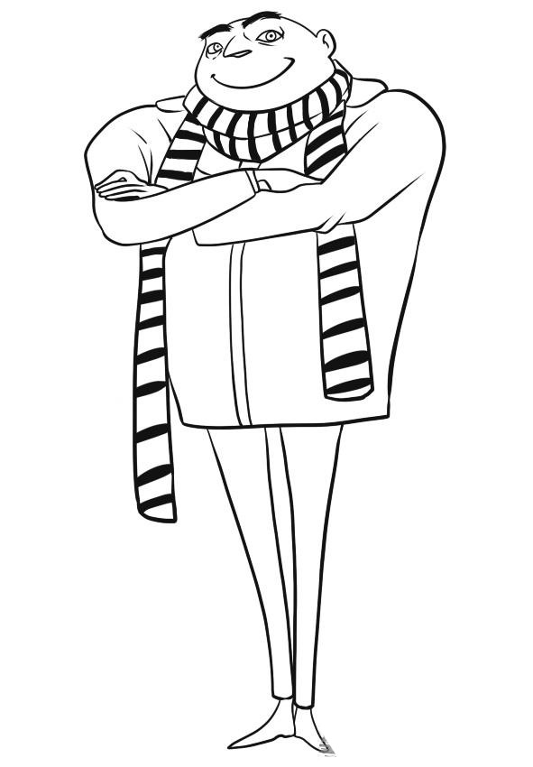 despicable me two coloring pages - photo#29